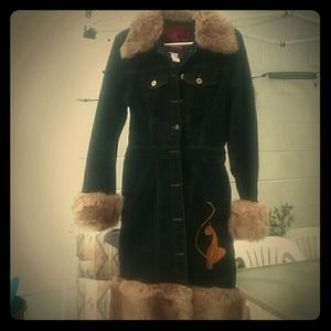 Baby Phat Jean and Fur Coat/Dress